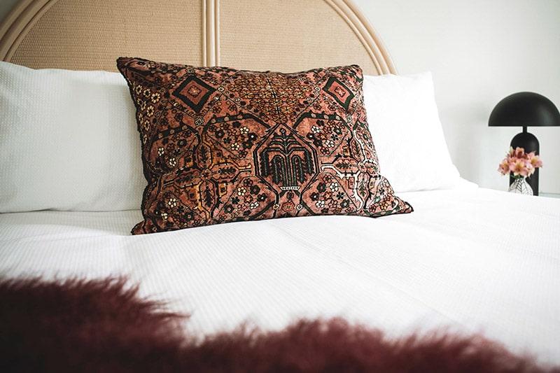 Blush cabin bed